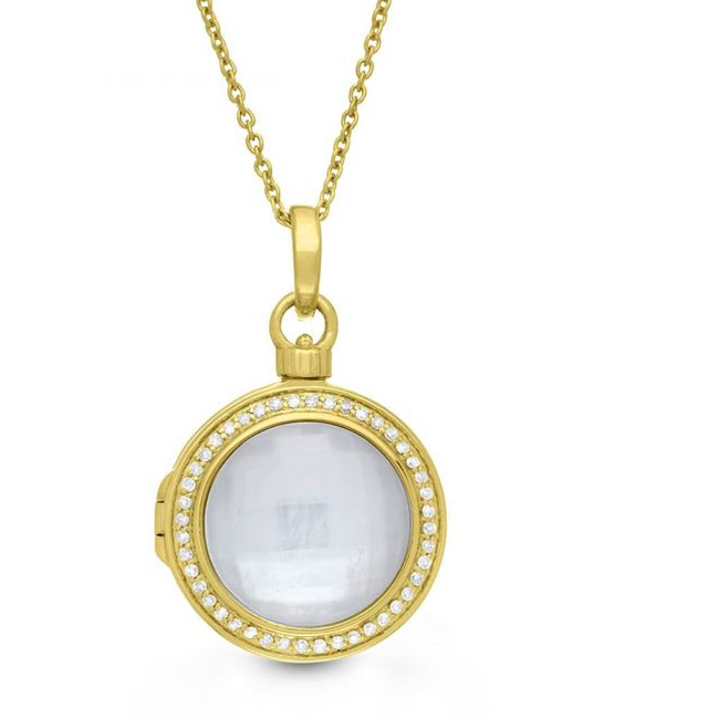 Michael Locket Necklace - Yellow Gold