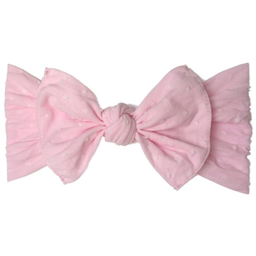Patterned Knot Headband - Shabby Light Pink Dot