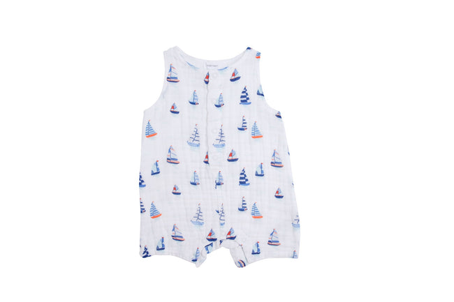 Nautical Boats Shortie Romper