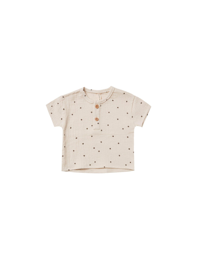 Woven Henry Top - Natural