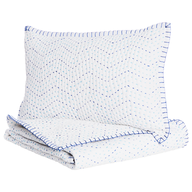 Pindi Blanket & Mini Sham Set - Lapis