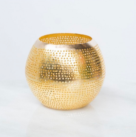 Round Gold Candle Holder