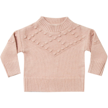 Bobble Knit Sweater - Rose
