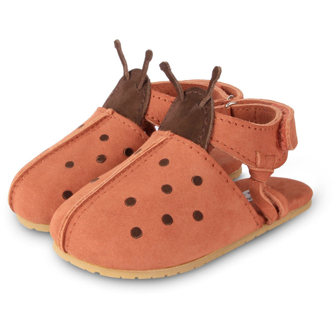 Lady Bird Closed Toe Sandal - Walnut Nubuck