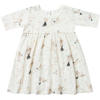 Finn Dress - Ivory Winter Birds