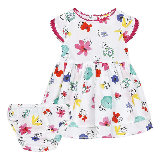 Tropicool Flower Print Dress & Bloomer Set