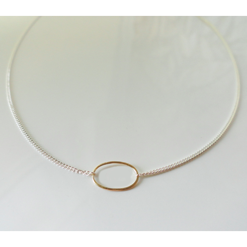 Coco Necklace - Gold Oval