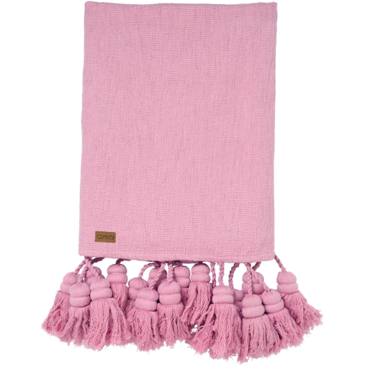 Lilac Tassel Throw