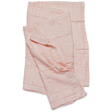 Luxe Muslin Swaddle - Pink Mudcloth