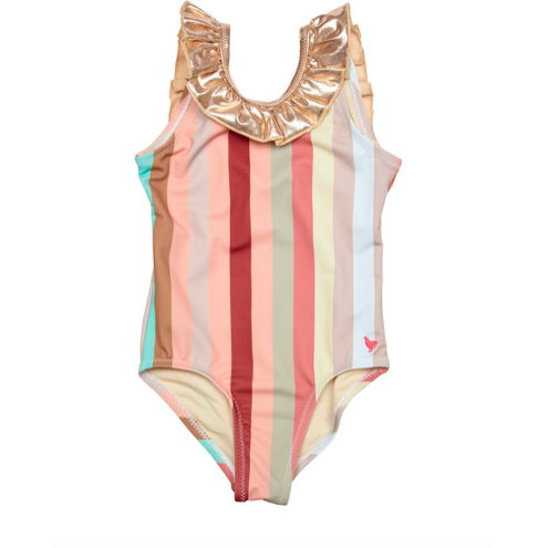 Princess Diana Swimsuit - Multi Vintage Stripe
