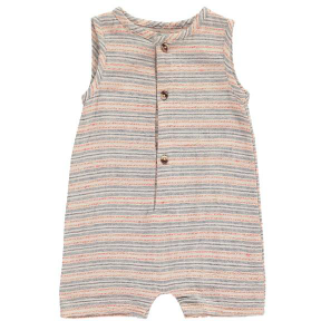 Striped Woven Playsuit - Multi