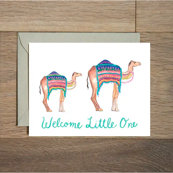 Baby Card - Camel Welcome