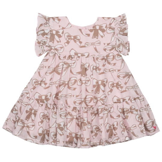 Baby Kit Dress - Strawberry Cream Bows