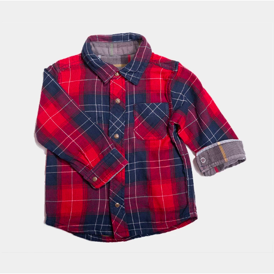Reversible Plaid Shirt - Red