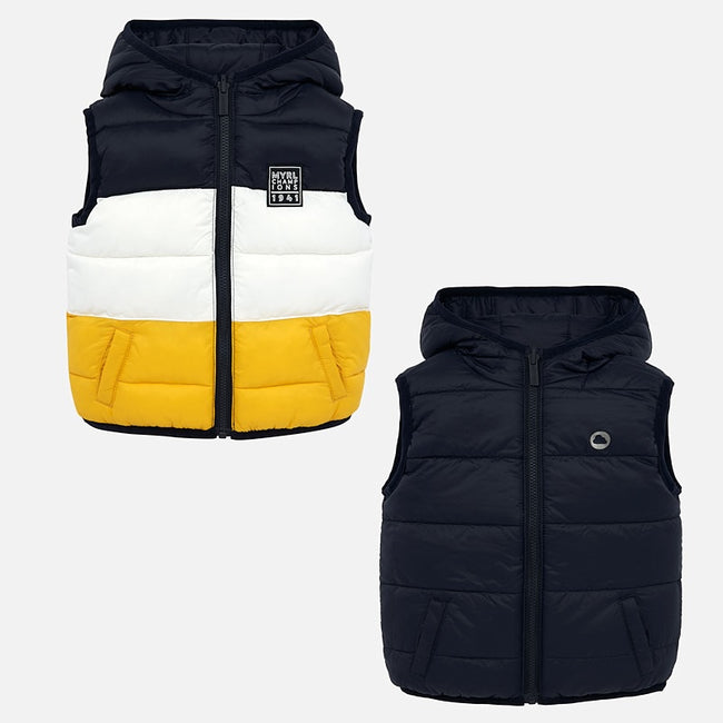 Padded Reversible Vest - Navy & Yellow