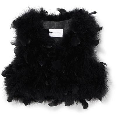 Farah Feather Vest - Stella Black
