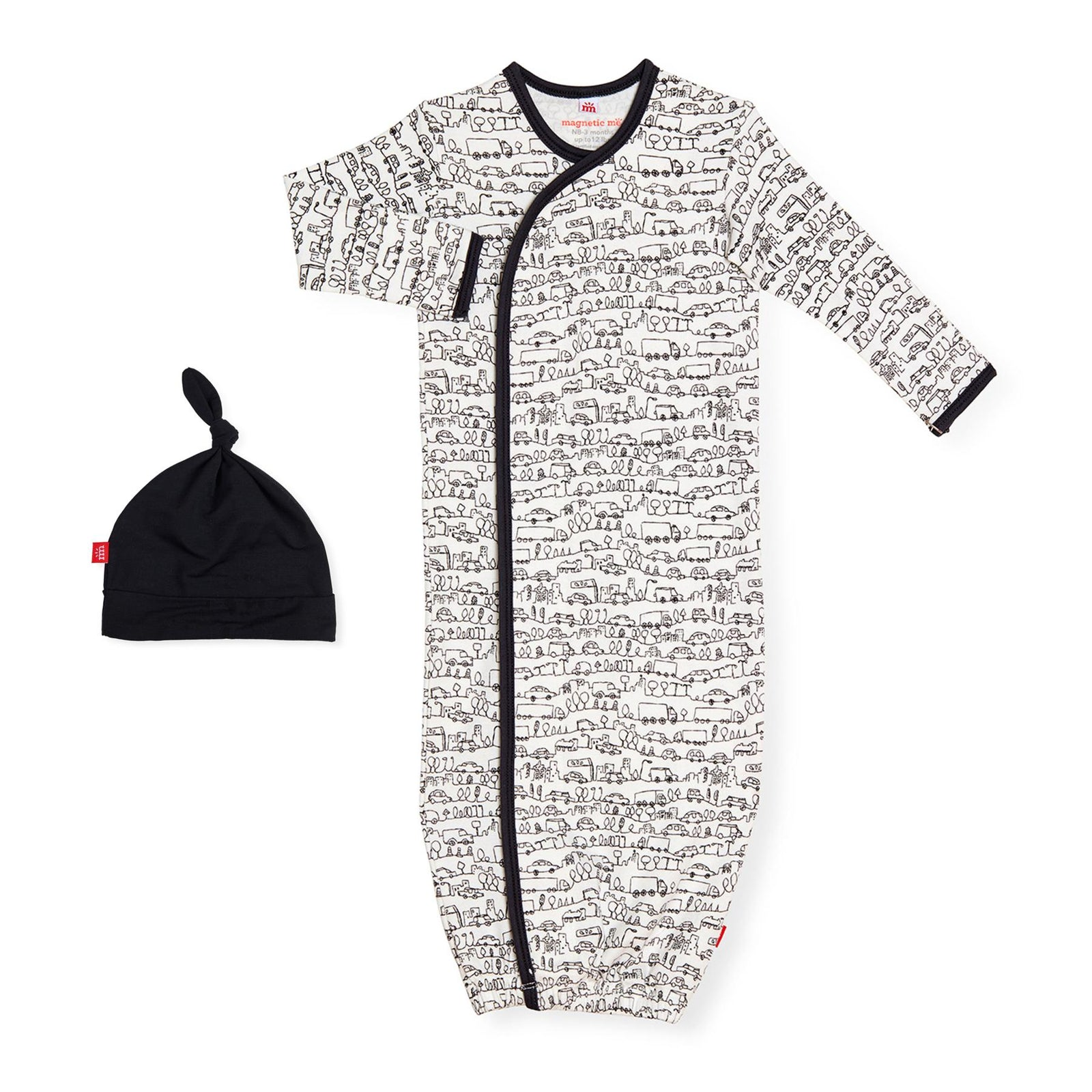 Going Places Organic Cotton Magnetic Gown Set