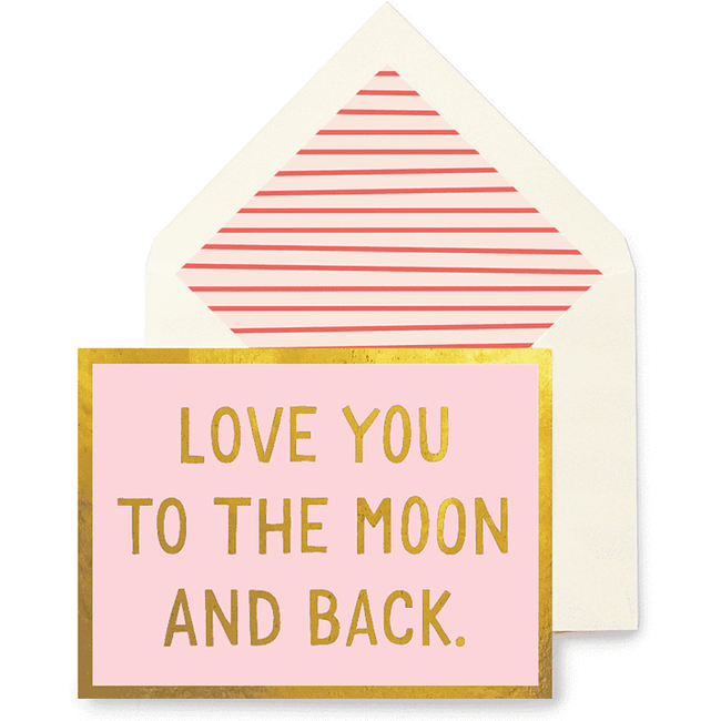 Love You to the Moon & Back Greeting Card - Pink
