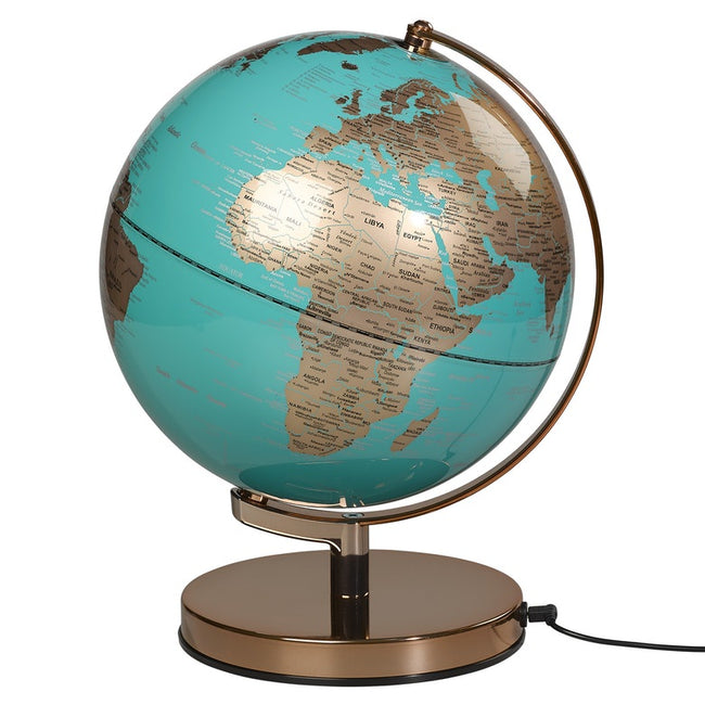 "Globe Light - 10"" Metallic Copper & Azure"