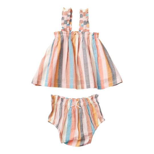 Emma Two-Piece Set - Multi Stripe