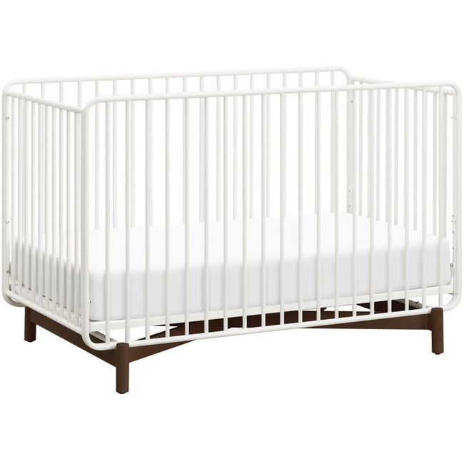 Bixby 3-in-1 Convertible Crib - Warm White/Walnut Stain