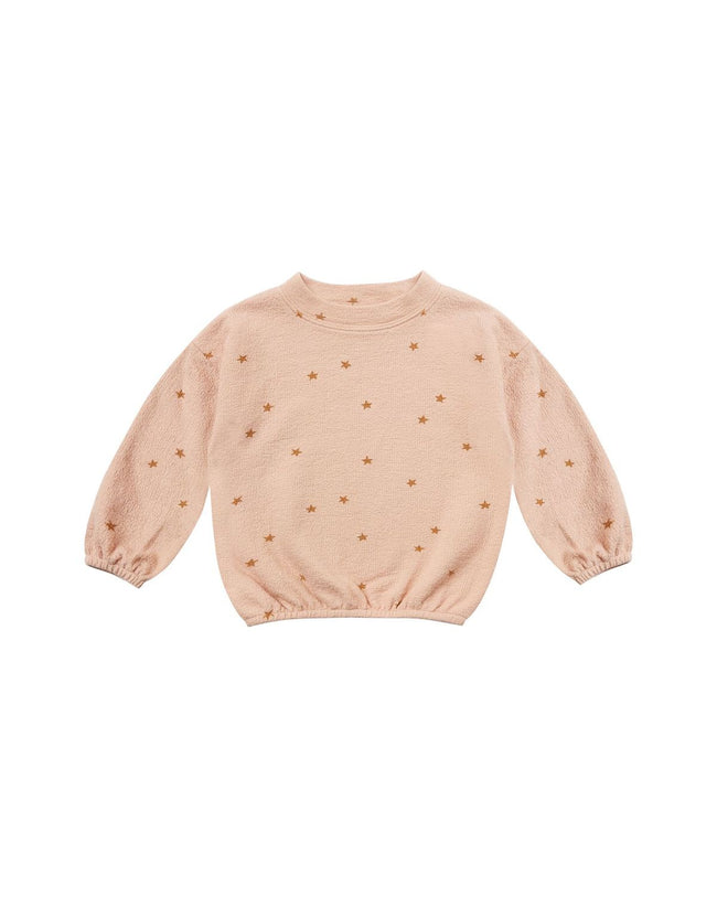 Star Slouchy Pullover - Rose