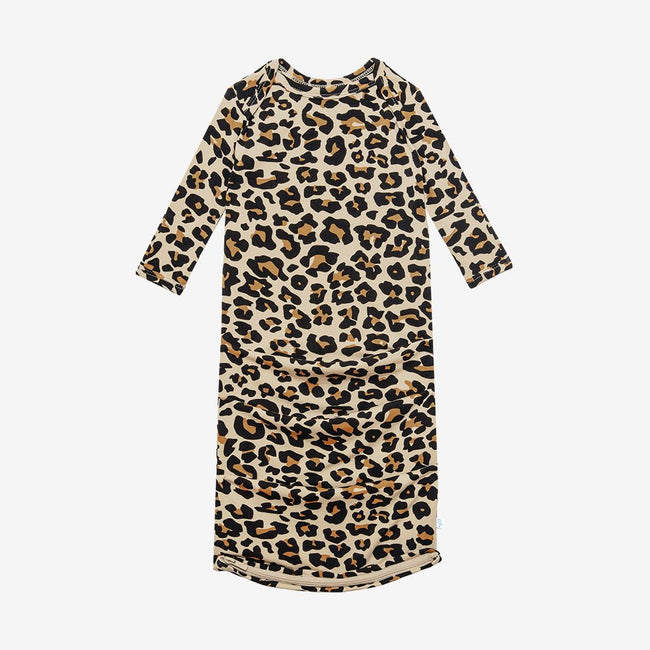 Basic Zippered Gown - Lana Leopard