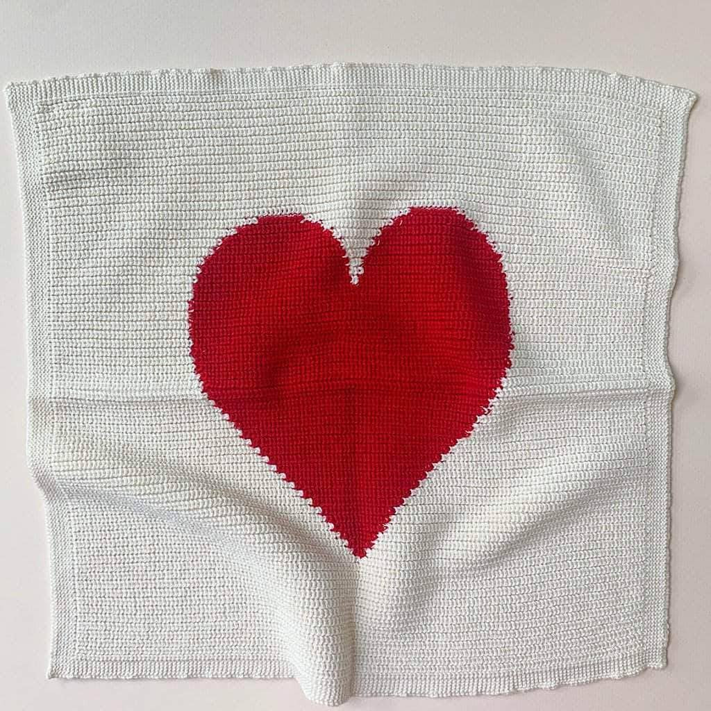 Heart Lovey Blanket - Red