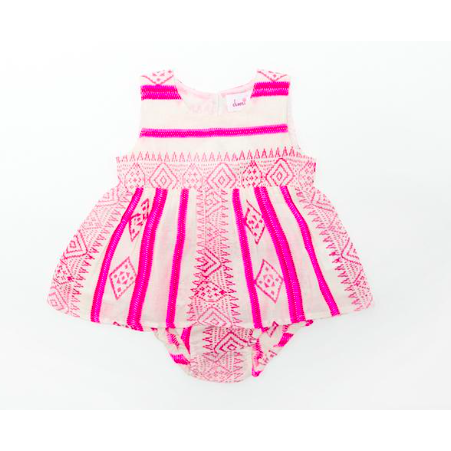 Varilyn Dress & Bloomer Set - Pink Stripe