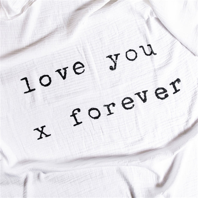 Swaddle Blanket - Love You X Forever