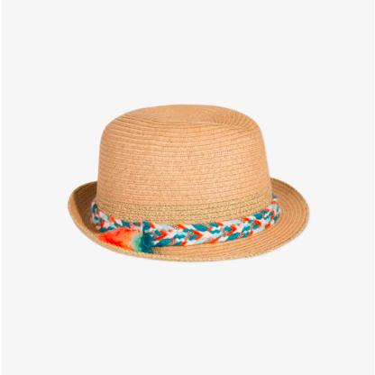 Braided Straw Hat - Tropical Adventure