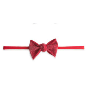 Skinny Shimmer Knot Headband - Red