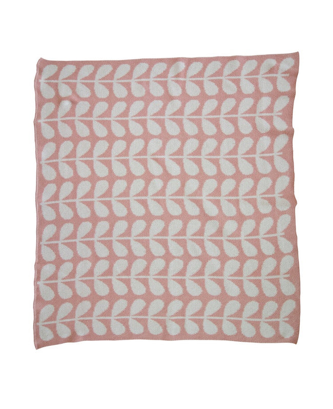 Mod Leaf Mini Blanket - Blush