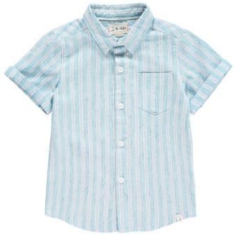 Striped Linen Shirt - Blue