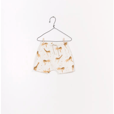 Printed Terry Shorts - White Safari