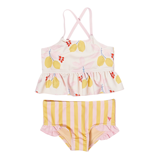 Baby Joy Tankini - Antique White Lemons