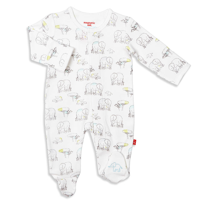 Le Enfant Organic Cotton Magnetic Footie