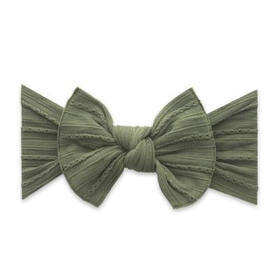 Cable Knit Knot Headband - Army Green