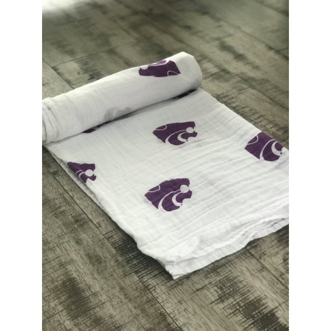 Collegiate Cotton Swaddle Blanket - Kansas State University