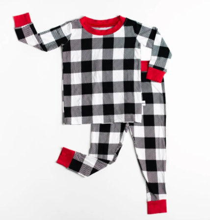 Buffalo Plaid Two-Piece Bamboo Viscose Pajama Set
