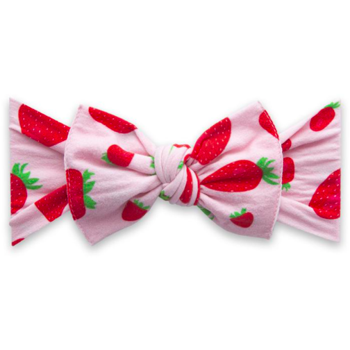 Printed Knot Headband - Very Berry