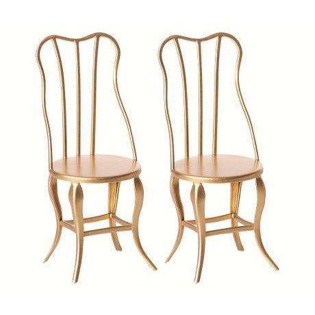 Vintage Micro Chair Set in Gold