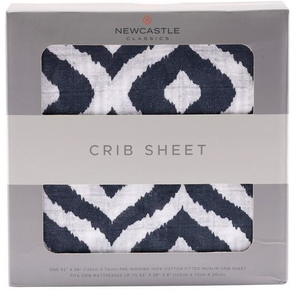 Moroccan Blue Crib Sheet