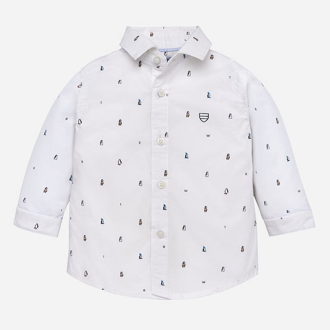Penguin Long Sleeve Collared Shirt