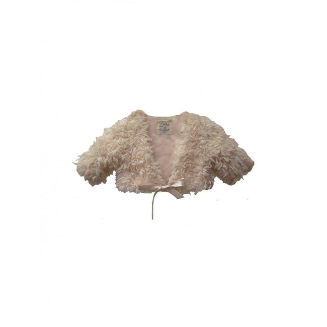 Nadine Faux Fur Shrug - Citrine