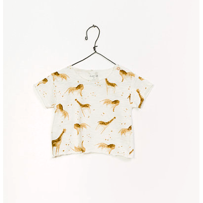 Printed Jersey T-Shirt - White Safari