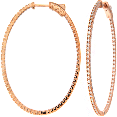 Large DiamLock Hoop Earrings - Gold.