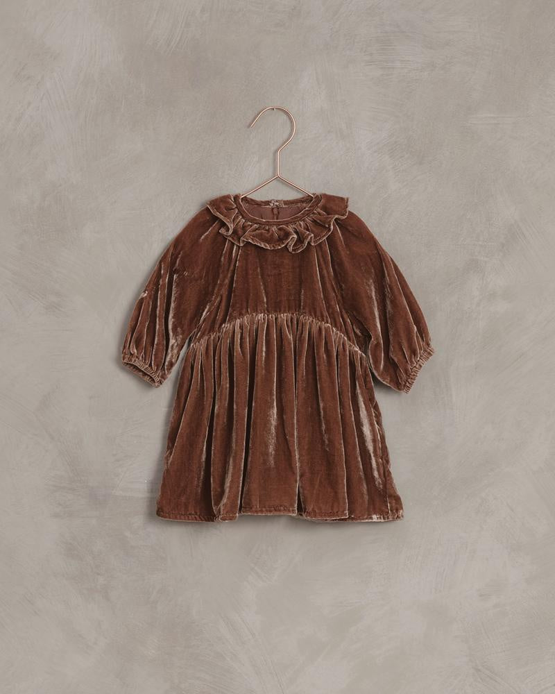 Adeline Velvet Dress - Wine