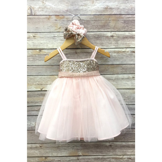 Adele Party Dress - Blush