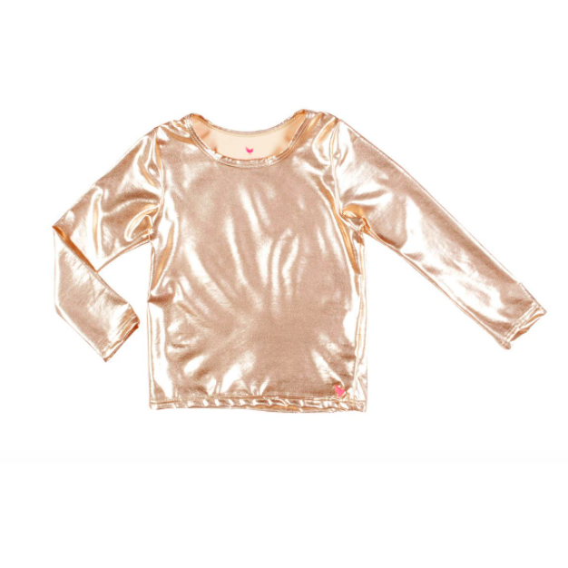Metallic Rash Guard - Rose Gold